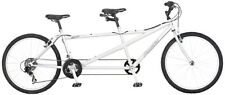 Silver Tandem Bicycle Two Person Cycle Exercise Outdoors Steel Frame Bike