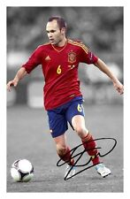 ANDRES INIESTA - SPAIN AUTOGRAPHED SIGNED A4 PP POSTER PHOTO