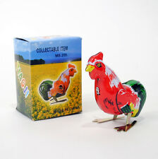 WIND UP ROOSTER Tin Toy Hopping Bird Vintage Style NEW IN BOX Boys & Girls