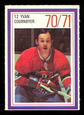 1970-71 ESSO POWER PLAYERS NHL #12 YVAN COURNOYER NM CANADIENS UNUSED STAMP