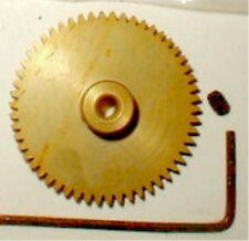 45 Tooth GOLD Spur Gear 48 Pitch with wrench WELDUM  Alum NOS Slot Car 1/24 1/32