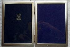 CORNICE PORTAFOTO BUSSOLARI - PICTURE FRAME - FOTOS MARCO/ SILVER PLATED - 13X18