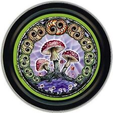 Round Stash Tin - Magic Mushrooms - Herbal tobacco Storage Stash Box Smoke Drugs