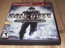 Call of Duty: World at War -- Final Fronts (Sony PlayStation 2, 20 Complete!!!!