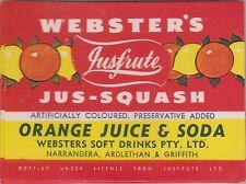 (LOA24) 1950-60 AU Webster's jus-squash  orange juice