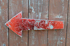 Retro metal 3 dimensional red arrow wall sign symbol this way arrow