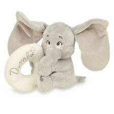 InFaNt~DUMBO~RATTLE~The Flying Elephant~Grey+Creme~NWT~Disney Store~2014~BaBy