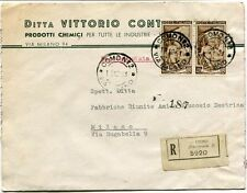1951 Italia al Lavoro RACCOMANDATA Prodotti Chimici Vittorio Conti Como