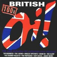 100% British Oi! 2-CD NEW SEALED Punk Blitz/Blood/Attak/Gonads/Combat 84/Sham 69