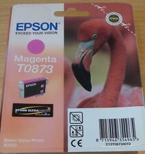 GENUINE EPSON T0873 TO873 MAGENTA cartridge ORIGINAL OEM FLAMINGO INK for R1900