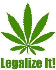 LEGALIZE IT Vinyl Decal Sticker Car Window Wall Bumper Macbook Marijuana Weed