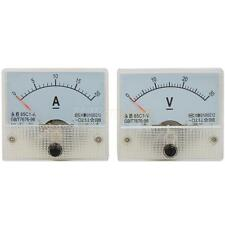 "New DC 30V Panel Volt Meter 20A Ammeter Multimeter Analoge 85C1-V 2.54"" Wide"