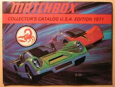 Matchbox Catalogue Catalogo 1971 USA Superfast