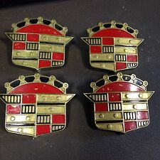 Vintage Accessory Hubcap 50's Cadillac Emblems KUSTOM Set Of 4 NOS