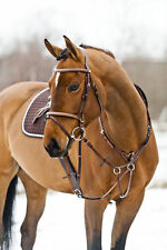 Horze Full Leather Decorative Stitching Padded Breastplate and Martingale
