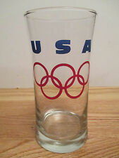 "USA OLYMPIC Summer & Winter RINGS 5.75"" Glass"
