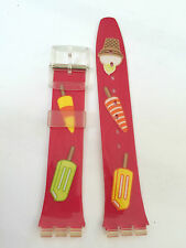 CINTURINO SWATCH Strap OROLOGIO AGE155 SUMMER TREAT 2004 VINTAGE UHR 17 mm SW55