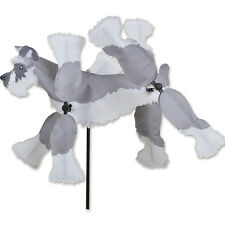 Schnauzer Dog Whirligig Wind Spinner Small 8""