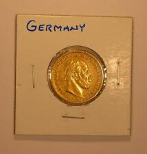 1872 Prussian (Germany) gold 20 Mark coin for Wilhelm I