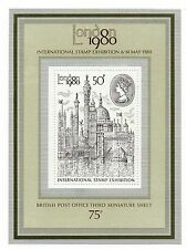 GB 1980 London Exhibition 50p unmounted mint mini / miniature sheet MNH stamps