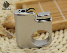 Silvery Ring Buckle Metal Lighter Refillable Easily for Gift/Collection