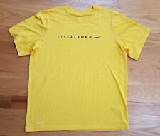 NIKE DRI-FIT LIVESTRONG SHORT SLEEVE YELLOW T-SHIRT MENS XL EXCELLENT CONDITION