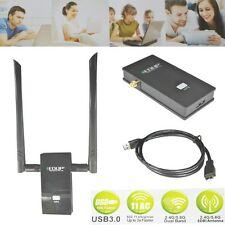 USB 3.0 1200Mbps 2.4G/5.8G Dual Band Antenna WPS Wireless WiFi  Win Mac Adapter