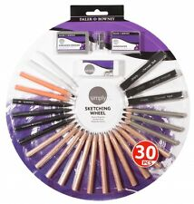 Daler Rowney Simply Sketching Wheel with Pencils Charcoal Eraser Sharpener