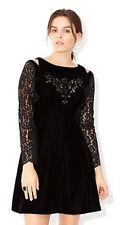MONSOON Clary Black Velvet Dress BNWT