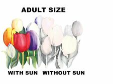 TULIPS COLORFUL T SHIRT UV Color Changing Tropical Tee Sun Adult Womens TShirt