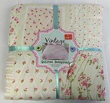 Quality Floral Patchwork Vintage Style Large Bedspread Blanket Throw - Shabby Ch