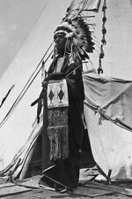 New 5x7 Native American Photo: Black Horse, a Pawnee Chieftain in Costume 1904