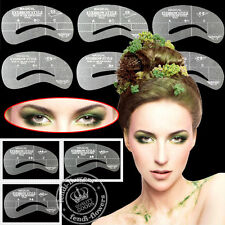 4 Styles Eyebrow Grooming Stencil Kit Template Makeup Shaping Shaper Templete TH