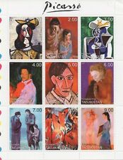 PABLO PICASSO CUBISM SURREALISM ART PAINTER TADJIKISTAN 1999 MNH STAMP SHEETLET