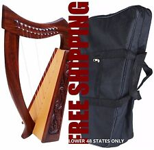 DEURA 12 STRINGS BABY HARP + BAG Irish Celtic Style Design DH12SBZ 01
