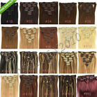 """16""""18""""20""""22""""24""""26""""28"""" 7PCS Clip In Remy Human Hair Extensions 70g 80g 100g 120g"""