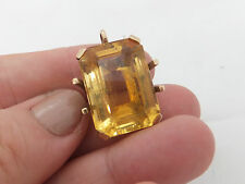 9ct/9k GOLD LARGE 20ct citrino Ciondolo Antico pesanti, 375
