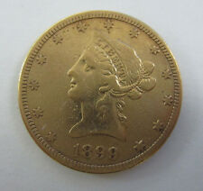 1899 -S- $10 Liberty Head Eagle Gold Coin (Ten Dollars) Mint San Francisco