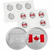 2015 Canadian Flag Quarters - 25-cent Circulation 10 Coin Pack. SEALED. IN STOCK