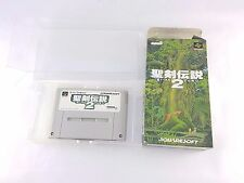 Snes Super Nintendo Famicom Secret Of Mana 2 Seiken Densetsu No Instructions