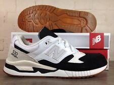 Mens New Balance 530 AC UK Size 10.5 Trainers Black Cream Suede