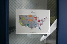 Scratch-off Us Map the United States of America A4(8.27 x 11.6) Size Poster