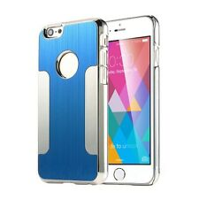 COVER FOR IPHONE 6 (4.7 INCH) HIGH QUALITY HARD CHROME BRUSHED ALUMINUM (BLUE)