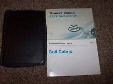 1997 Volkswagen VW Golf & GTI Owner Owner's User Guide Manual Set RARE ORIGINAL
