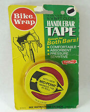 NOS BIKE WRAP red CLOTH Handlebar TAPE Made In The USA NIP ENOUGH FOR 1 BAR
