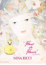PUBLICITE ADVERTISING 034   1983   NINA RICCI  parfum  FLEUR DE FLEURS 2