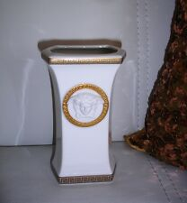 Pre-owned VERSACE Gorgona White & Golden Vase by Rosenthal 13 cm / 5.1 inch