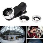 3 in 1 Fish Eye + Wide Angle Micro Lens Camera Kit for iPhone 5 4 6 6S Plus B TR