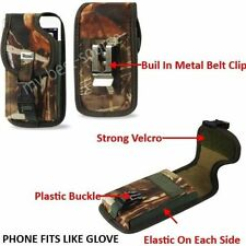 (A3) Heavy Duty Leather Case Cover Belt-Clip FOR Samung Galaxy S4 Active - Camo