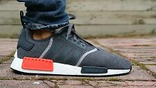 Adidas Originals NMD R1 Lana Gris Rojo Negro Reflectante 8.5UK 9US 42.7EU S31510
